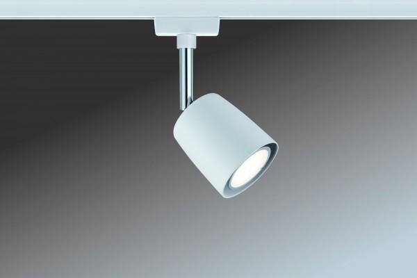 URail System Spot Cover max. 1x10W GU10 Weiß/Chrom 230V Metall