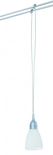 WiRa System CombiEasy Pendel Bolo 1x20W G4 Titan/Opal 12V Metall/Glas