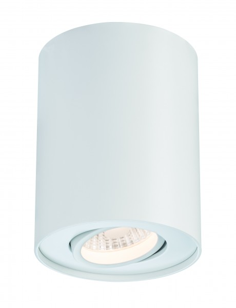 Premium ABL Set Barrel schwenkbar rund LED 1x6W 9VA 230V/350mA 84mm Weiß matt
