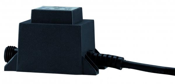 LED Trafo IP44 6W 230/12V AC 6VA Schwarz