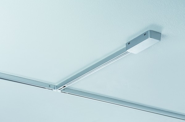URail System Light&Easy Kürzbare Endeinspeisung 50cm Chrom matt Metall