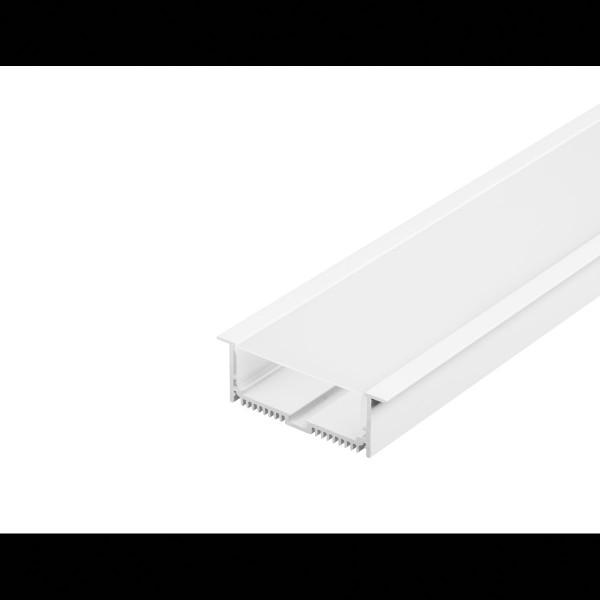 GLENOS Profi-Einbau-Profil 8832-100 mit Cover, mattweiss, 1m