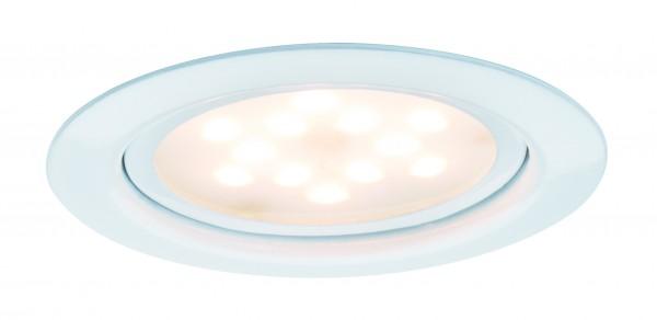 Möbel EBL Set LED 3x4,5W 12VA 230V/350mA 65mm Weiß/Metall