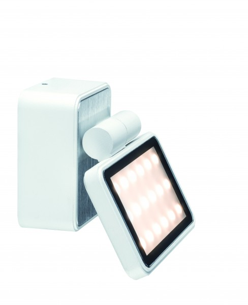 Special ABL Set IP44 Board LED 1x6,8W 230V Weiß matt/Alu gebürstet Alu
