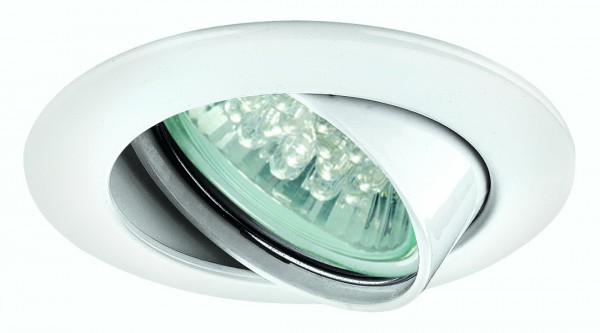 Premium EBL Set schwenkbar LED 1W 230V GU10 51mm Weiß/Alu Zink
