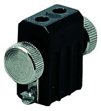 WS L&E Lampenhalter Seilsysteme Socket max.1x50W GX5,3 Schwarz 12V Met
