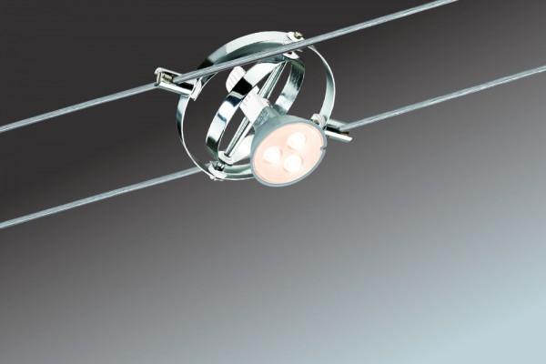 Wire System Cardan LED 6x4W GU5,3 Chrom/Weiß 230/12V 80VA Metall