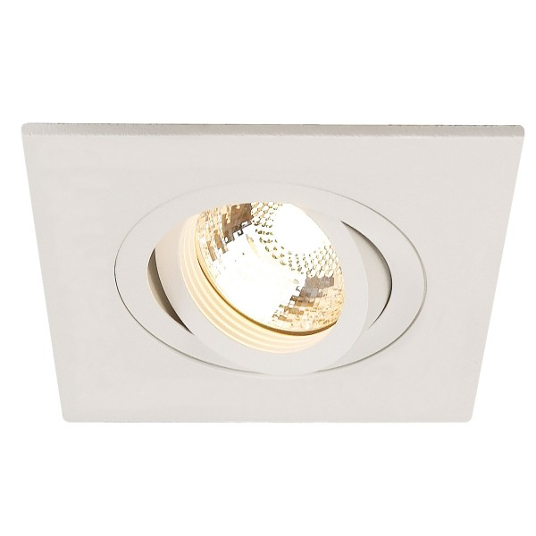 NEW TRIA XL SQUARE GU10 Downlight, mattweiss, max. 50W, inkl. Clipfedern