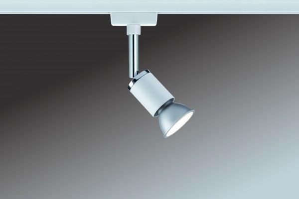 URail System Spot Pure II max. 1x10W GU10 Weiß/Chrom 230V Metall