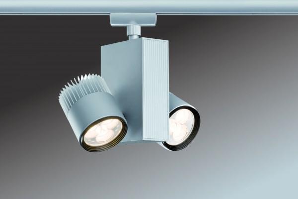 URail System Light&Easy Spot TecLed 2x9W Chrom matt 230V Metall