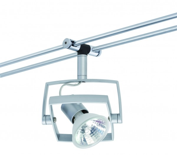 WiRa System CombiEasy Spot Mac_ 1x35W GU5,3 Chrom matt 12V Metall/Kunststoff
