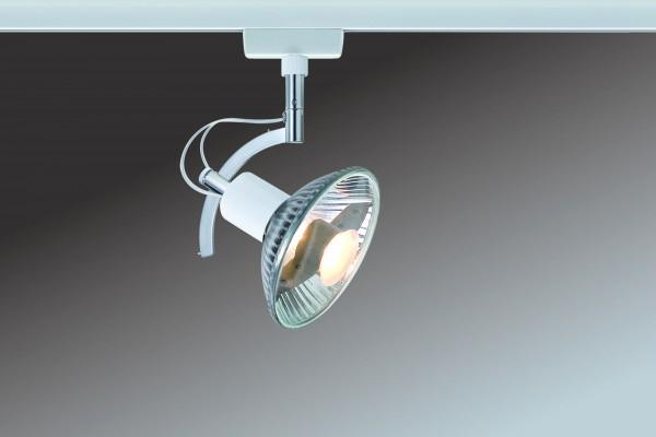 URail System Light&Easy Spot Roncalli 1x50W GU10 Weiß 230V Metall
