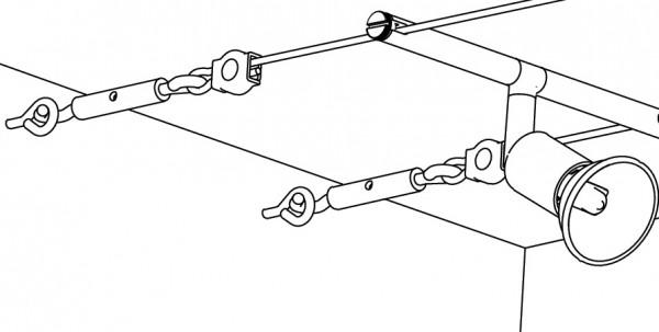 Wire System Light&Easy Spann-Montageset Chrom matt Metall