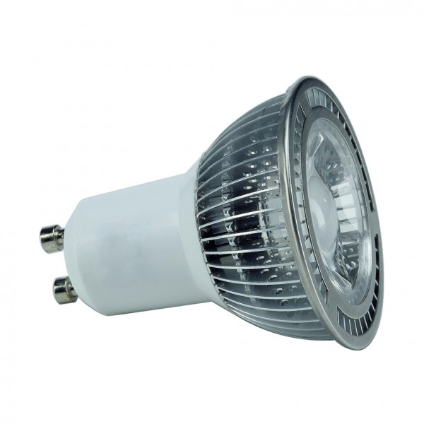 GU10 LED, 5W, weiss, 60Á, nicht dimmbar