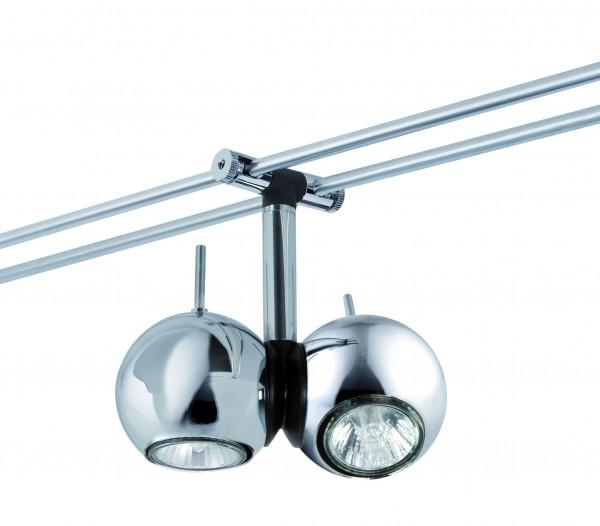 WiRa System CombiEasy Spot Sphere 2x20W GU4 Chrom 12V Metall