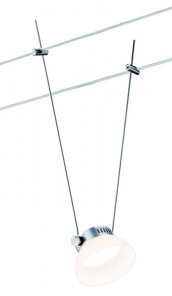 Wire Systems DC Spot IceLED I 1x4W Chrom matt/Weiß 12V DC Kunststoff