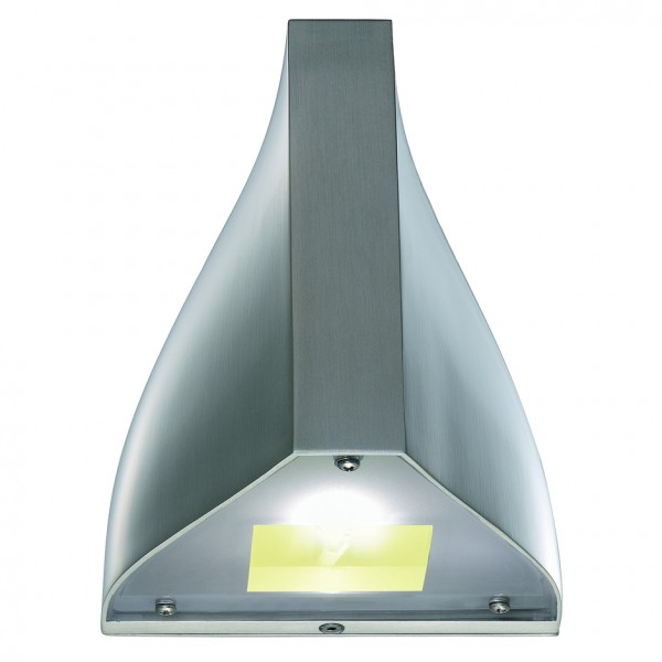 TENDA LED Wandleuchte, alu brushed, warmweisse LED