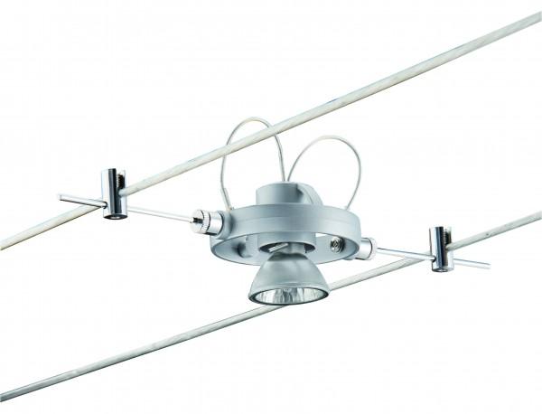 Wire System HaloLED 4x20W+3x1,5W GU4 Chrom matt 230/12V 105VA Metall