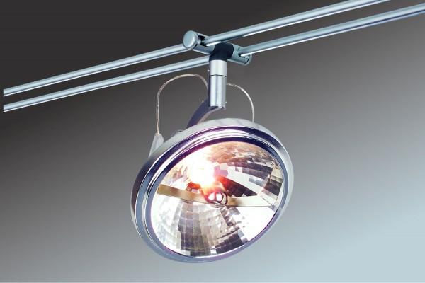 Rail System Spice Wasabi 300 6x50W G53 Chrom matt 230/12V 300VA Metall